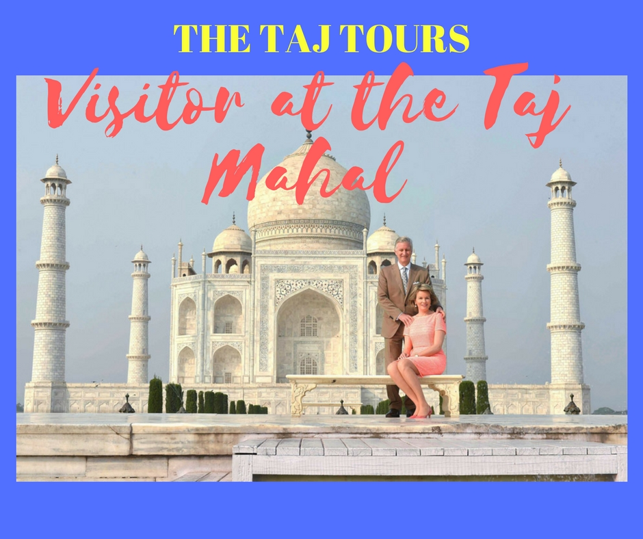 Belgian's Royal couple visited Taj Mahal