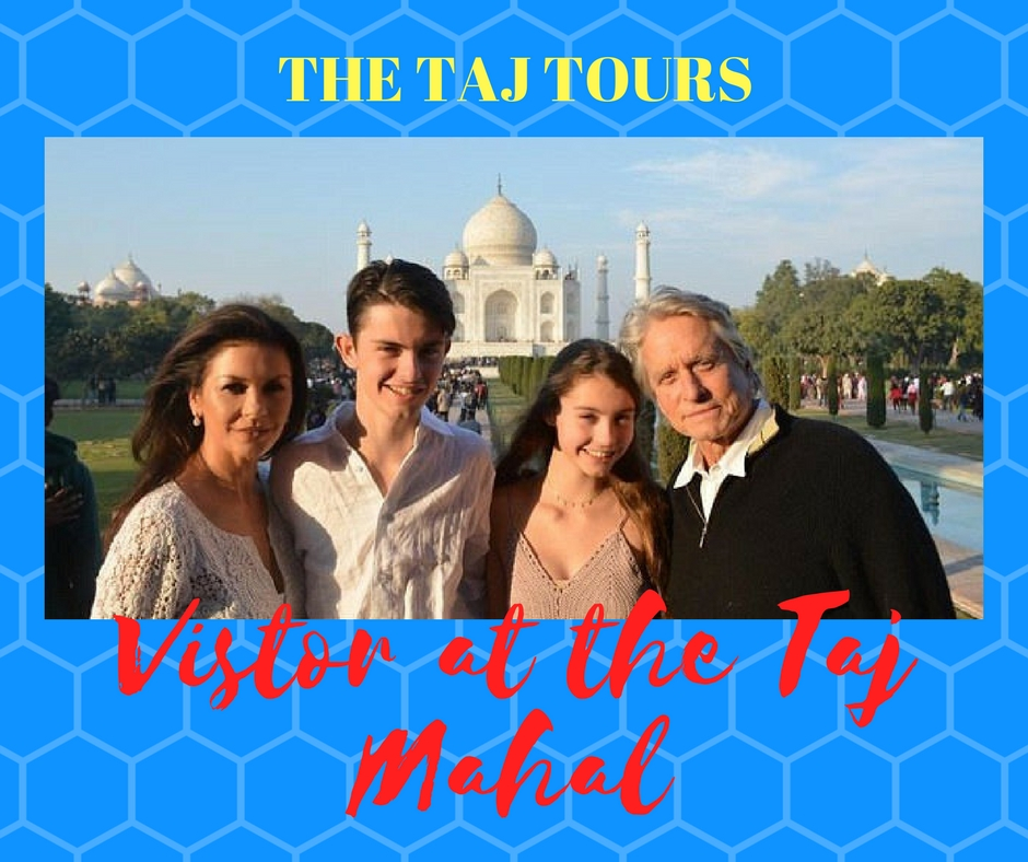 Michael Douglas and Catherine Zeta Jones visits Taj Mahal
