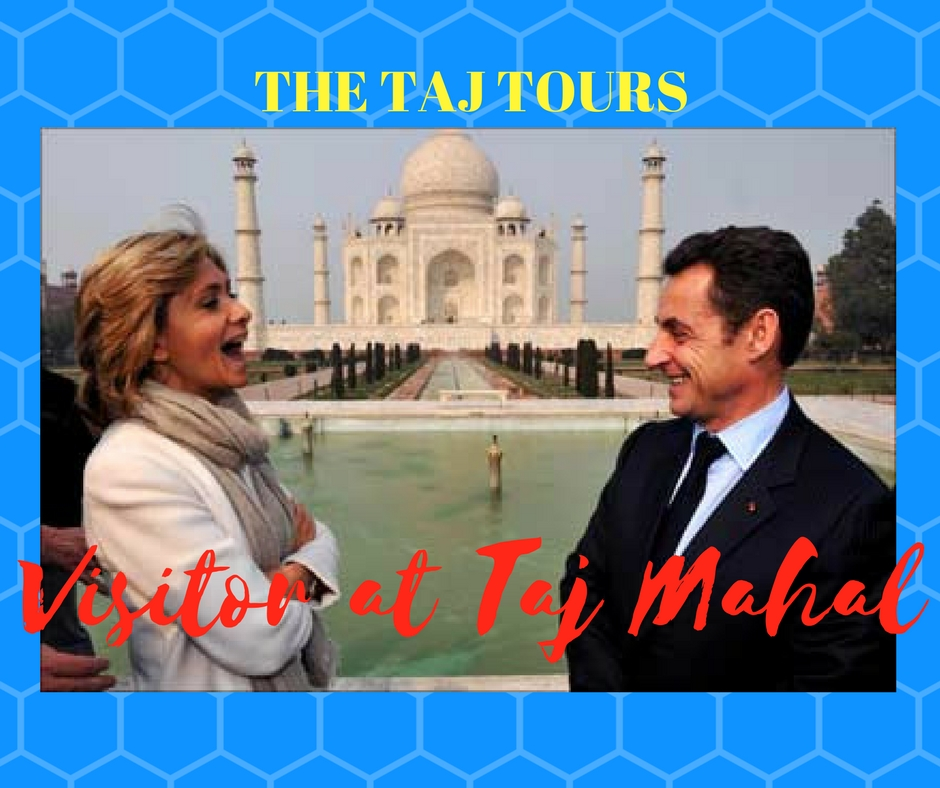 French President Emmanuel Macron visited Taj Mahal